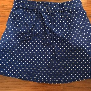 J Crew polka dot drawstring skirt Sz 2